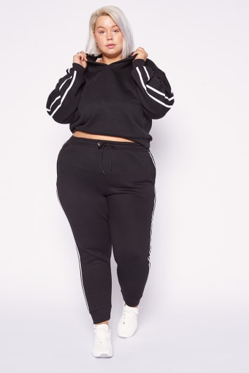 CURVE OLIVEEA BLACK FLEECE BACK JOGGER