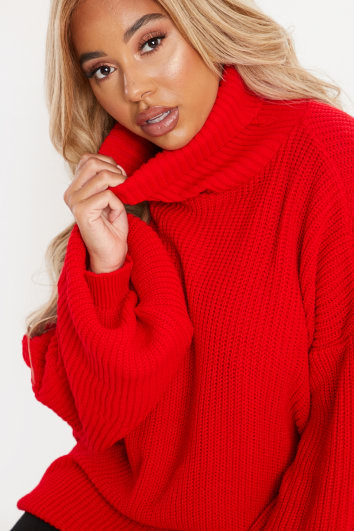 CURVE CHARLOTTE CROSBY RED LONGLINE JUMPER