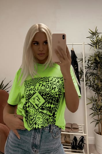 LOTTIE TOMLINSON GREEN ALL NIGHT LONG T SHIRT
