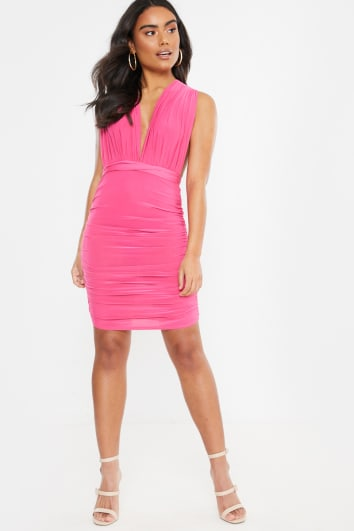 DUAA PINK WEAR ME ANY WAY MINI DRESS