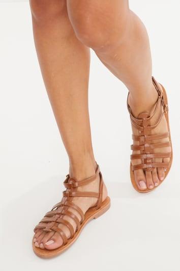 tan pu sandals