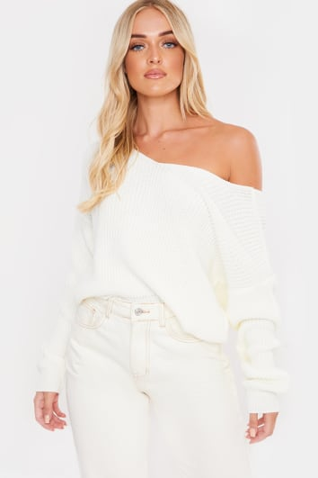 MOREGAN IVORY TWIST BACK JUMPER