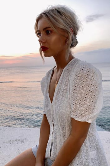 LAURA JADE WHITE BRODERIE ANGLAISE PLEATED FRILL SHOULDER BLOUSE