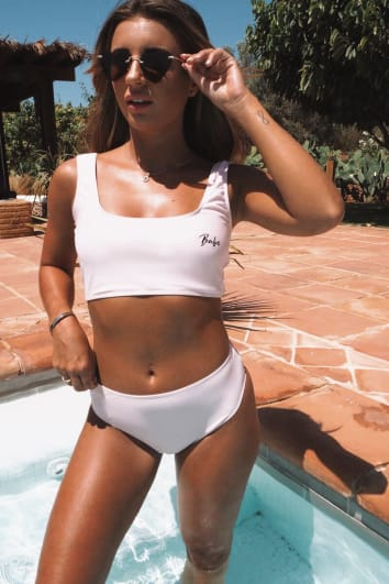 DANI DYER PINK HIGH WAISTED BIKINI BOTTOMS
