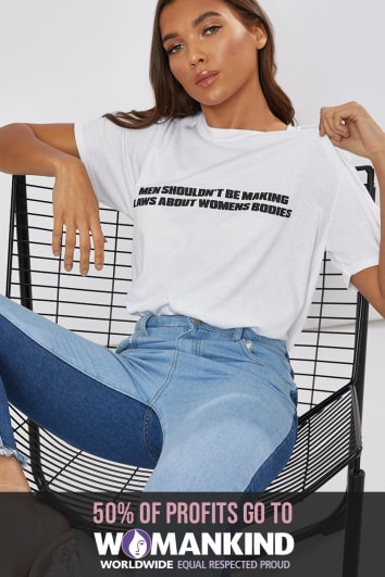 MEN SHOULDN'T BE MAKING LAWS ABOUT WOMENS BODIES WHITE T SHIRT