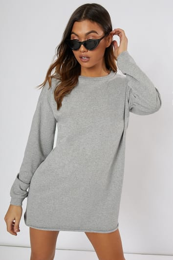 LOUNA GREY OVERSIZED SWEATER DRESS