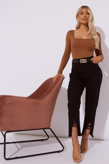 MAVRIC BLACK HIGH WAISTED JEANS