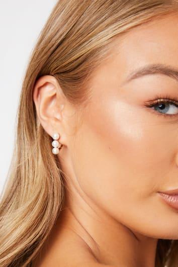 GOLD 3 PEARL EAR CUFFS