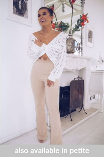 DANI DYER STONE HIGH WAISTED PAPERBAG TROUSERS