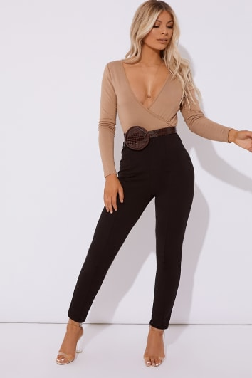 OLEANA BLACK CIGARETTE TROUSER