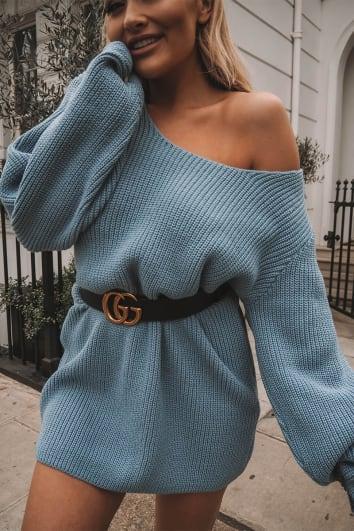 RIMMELLA BLUE OVERSIZED MULTIWAY JUMPER DRESS