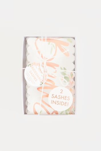 GINGER RAY BRIDESMAID FLORAL SASHES 2 PACK