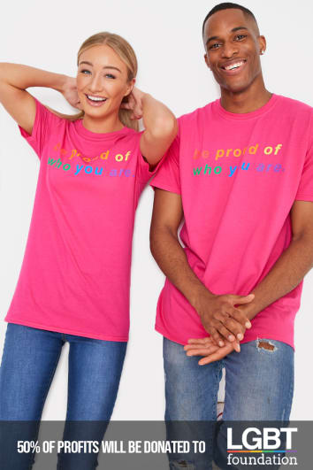 PRIDE BE PROUD OF WHO YOU ARE PINK T SHIRT