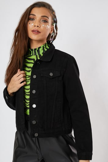 NANALI BLACK DENIM JACKET