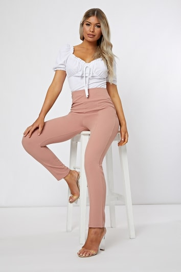 OLEANA BLUSH CIGARETTE TROUSER