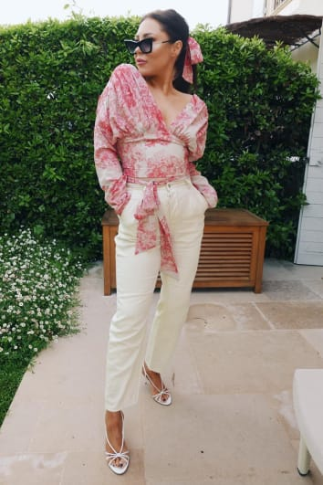 LORNA LUXE 'THE LUXETTE' OFF WHITE JEANS