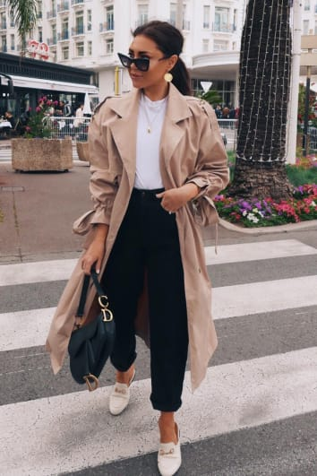 LORNA LUXE 'RUNWAY' BEIGE LIGHTWEIGHT TRENCH COAT