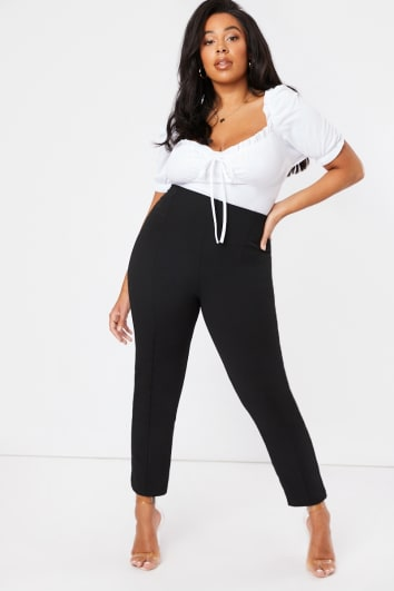 CURVE OLEANA BLACK CIGARETTE TROUSERS