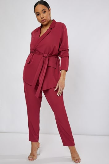 CURVE KENDAEL RASPBERRY TROUSERS CO-ORD