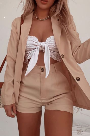 FASHION INFLUX STONE SINGLE BREASTED BLAZER