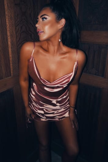 LORNA LUXE 'SOMETHING SPECIAL' SATIN ROSE GOLD SLIP DRESS