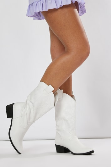 JYANA WHITE WESTERN BOOTS