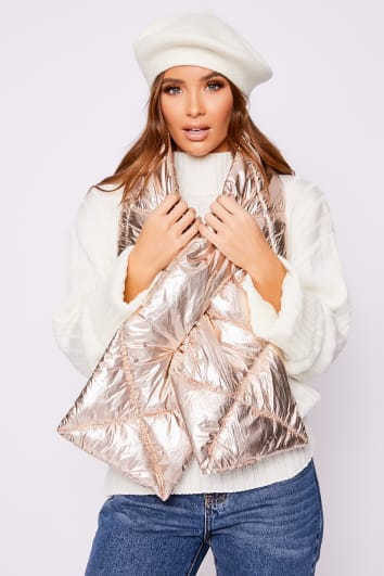 ROSE GOLD PUFFER SCARF
