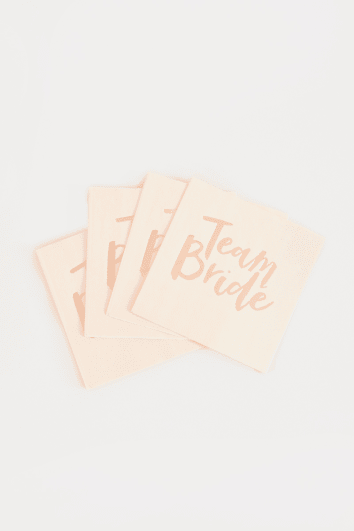 GINGER RAY TEAM BRIDE PAPER NAPKINS 20 PACK