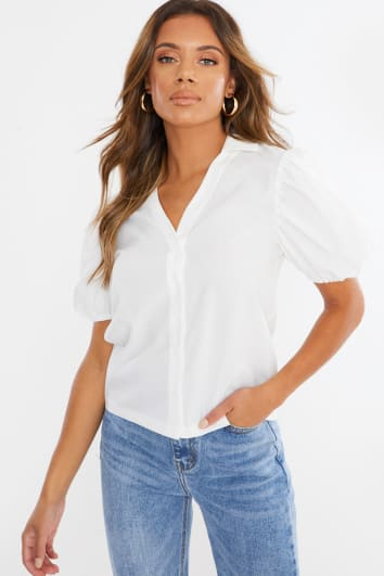IONY WHITE PUFF SLEEVE SHIRT