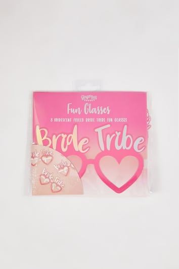 GINGER RAY PINK 8 PACK BRIDE TRIBE GLASSES