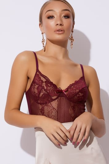 plum lace bodysuit