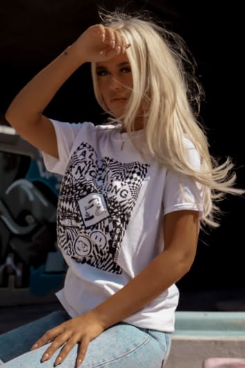 LOTTIE TOMLINSON WHITE ALL NIGHT LONG T SHIRT