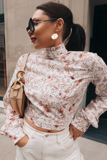LORNA LUXE 'PRACTICALLY PERFECT' PORCELAIN PEEKABOO BACK NUDE TOP