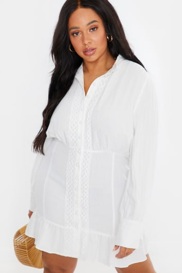 CURVE LORNA LUXE WHITE 'NEMESIS' DRESS