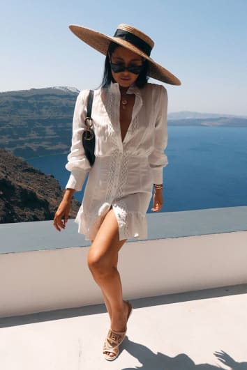 LORNA LUXE WHITE 'NEMESIS' DRESS