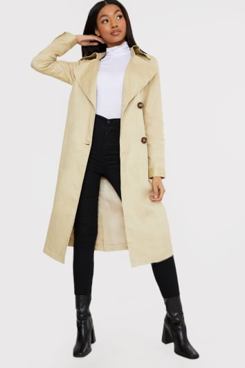 STONE BELTED TRENCH COAT