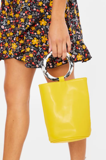 MUSTARD BARREL BAG