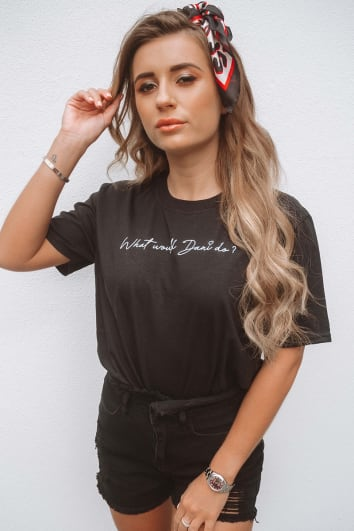 DANI DYER WHAT WOULD DANI DO? BLACK T-SHIRT