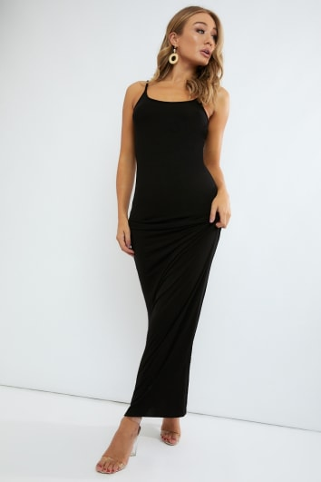 basic black maxi dress