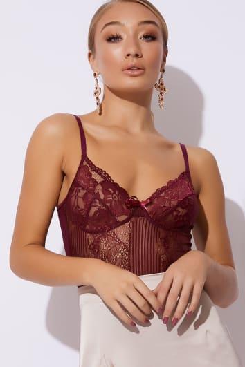 plum lace bodysuit