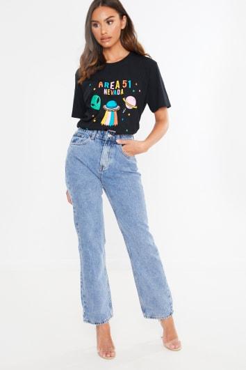 light wash denim mom jeans