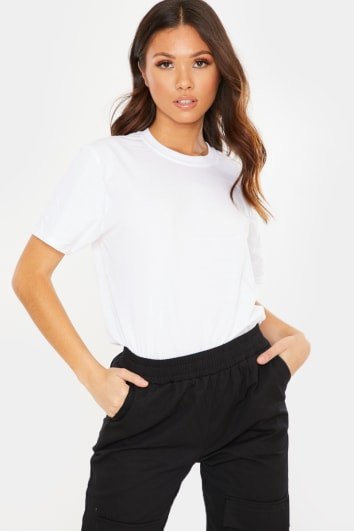 BASIC WHITE OVERSIZED T SHIRT