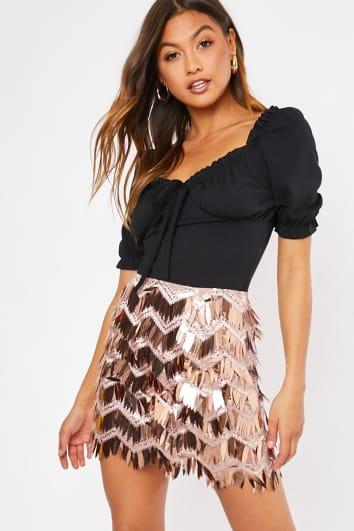 tassel sequin skirt