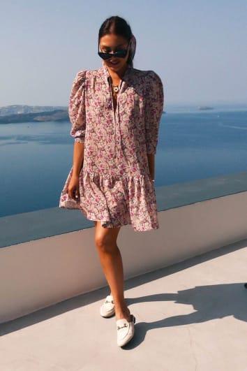 LORNA LUXE STONE 'HONOUR' SECRET GARDEN PRINT DRESS