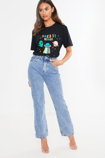 light wash denim mom jeans