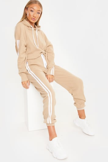 LAILA LOVES CAMEL STRIPE SIDE CO-ORD JOGGERS