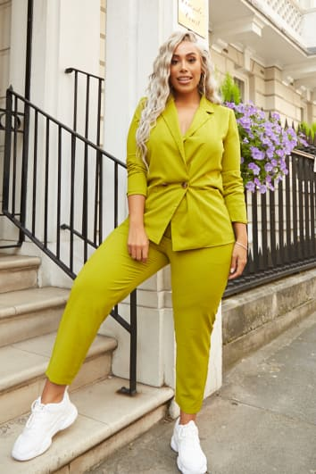 CURVE LAILA LOVES CHARTREUSE BALLOON FIT TAILORED TROUSER