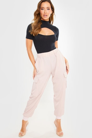 PINK COMBAT CARGO TROUSERS