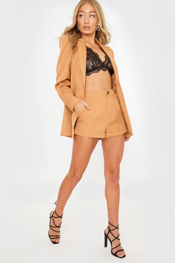LORNA LUXE BURNT TOFFEE 'BIANCA' TAILORED SHORTS