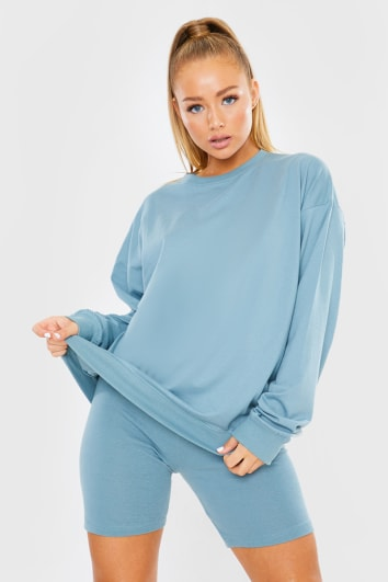 BLUE LONG SLEEVE TSHIRT